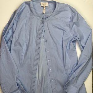 Laundry by Shelli Segal Optic Pale Blue Shirt